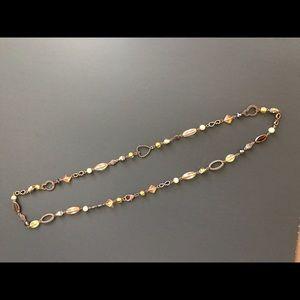 Park Lane long bronze, beaded necklace